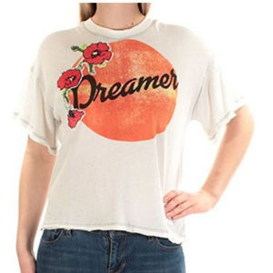 NWT Free People White Dreamer T-Shirt S M